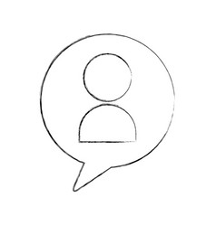 Speech bubble message with avatar vector
