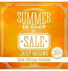 summer is over but sale just begin banner vector image