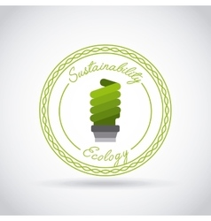 sustainability and ecology design vector image