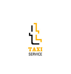 t letter icon for taxi service vector image
