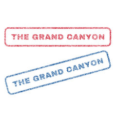 The grand canyon textile stamps vector