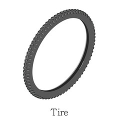 Tire bicycle icon isometric 3d style vector