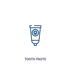 Tooth paste concept 2 colored icon simple line vector