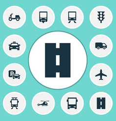 Transportation icons set collection of aircraft vector
