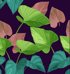Tropical plant pattern2 vector