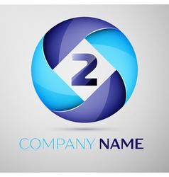 Two number colorful logo in the circle template vector