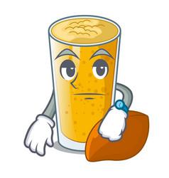 Waiting lassi mango in character fridge vector