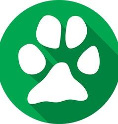 Animal Paw Icon vector image vector image