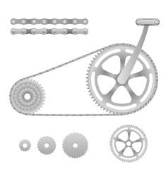 Bicycle gear vector