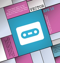 Cassette icon sign Modern flat style for your vector image