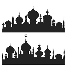 Islamic City Silhouettes vector image