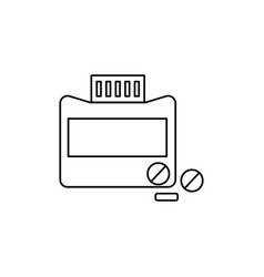 medicine tube tablets icon vector image vector image
