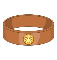 Pet collar icon cartoon style vector image