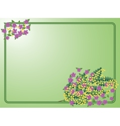 Postcard to March 8 with bouquet of the mimosa vector image