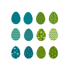 set of color easter eggs traditional symbol of vector image