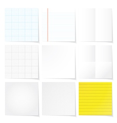 set of papers background vector image