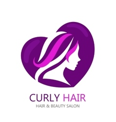 Template abstract logo for beauty salon or vector