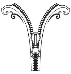 Zipper black symbols vector image vector image