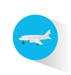 air craft fly transport icon vector image