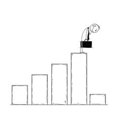 conceptual cartoon of businessman watching low vector image