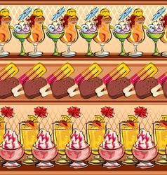 ice-cream seamless vector image vector image