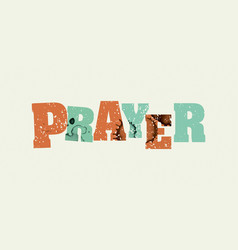 prayer concept stamped word art vector image vector image