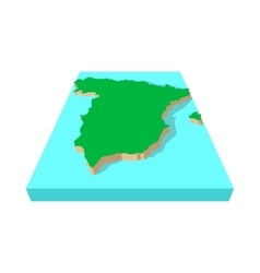 Spanish map icon cartoon style vector image vector image