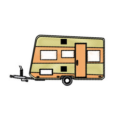 trailer camping vehicle transport travel vacation vector image