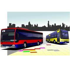 al 0525 city panorama 01 vector image vector image