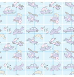 Baby Seamless Wallpaper Transportation vector image vector image