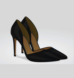 black woman shoes with heels vector image