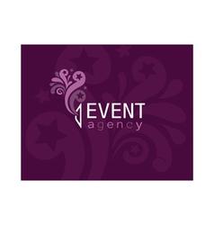 Event agency logo vector