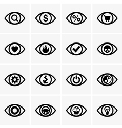 Expressions in the eyes vector image vector image