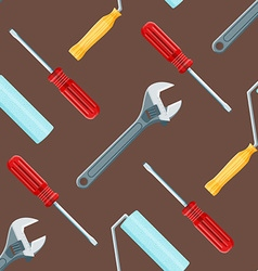 house remodel tools seamless pattern vector image vector image