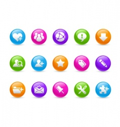 internet and blog icons vector image vector image