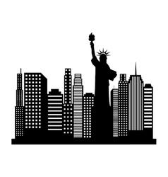 new york cityscape icon vector image