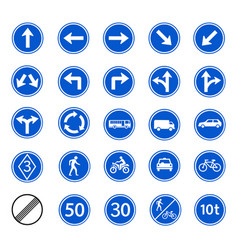 traffic regulatory sign vector image