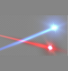 abstract red laser beam transparent isolated on vector image