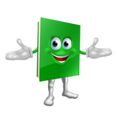 happy cartoon book man vector image vector image