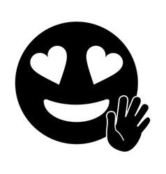love hand emoticon style pictogram vector image vector image