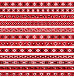 red bandana borders vector image