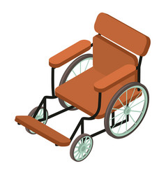 wheelchair icon isometric 3d style vector image
