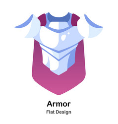 Armor flat icon vector