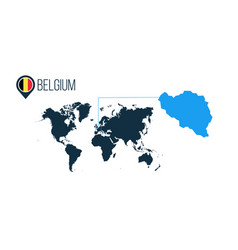 belgium location modern map for infographics all vector image