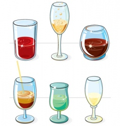 beverages set vector image