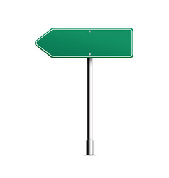 blank green arrow road sign realistic vector image