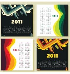 Calendar template vector