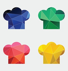 Chef hat icon Abstract Triangle vector