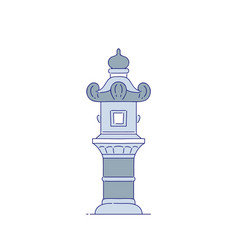 chinese stone streetlight architectural vector image