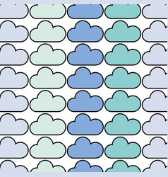 Cloud weather to natural environment care vector